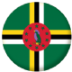 Dominica Country Flag 25mm Pin Button Badge